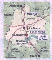 Tracé de l'A 28, Alençon - Tours